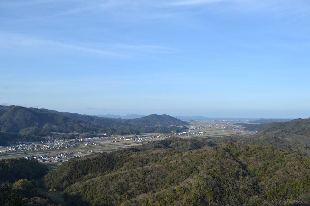 月山冨田城 頂上から
