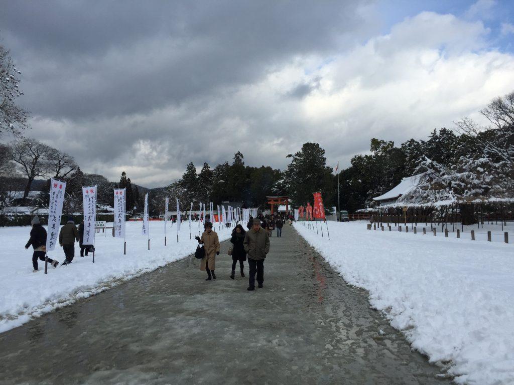 上賀茂神社 参道 冬